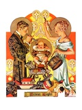 """Silent Night,""December 28, 1935 Giclee Print by Joseph Christian Leyendecker"