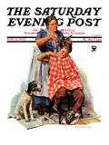 """Kitchen Haircut,"" Saturday Evening Post Cover, November 11, 1933 Giclee Print by Harold Anderson"