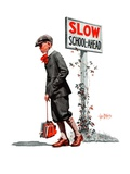 """Slow, School Ahead,""September 5, 1925 Giclee Print by George Brehm"