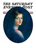 """Portrait of Young Woman,"" Saturday Evening Post Cover, March 8, 1930 Giclee Print by William Haskell Coffin"