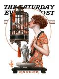"""""""Easter, 1923,"""" Saturday Evening Post Cover, March 31, 1923 Giclée-tryk af Joseph Christian Leyendecker"""