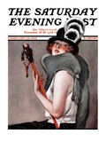 """Woman with Baton,"" Saturday Evening Post Cover, February 28, 1925 Giclee Print by Roy Best"