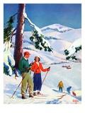 """""""Ski Break,""""January 1, 1939 Giclee Print by Charles Hargens"""