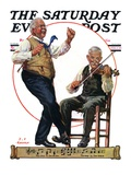 """""""Jig to a Fiddle,"""" Saturday Evening Post Cover, February 2, 1929 Giclee Print by J.F. Kernan"""