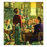 """""""Oral Report,""""February 1, 1947 Giclee Print by W.C. Griffith"""