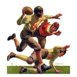 """Quarterback Pass,""October 12, 1935 Giclee Print by Maurice Bower"