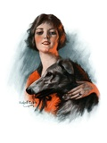"""Woman and Wolfhound,""October 17, 1925 Giclee Print by William Haskell Coffin"