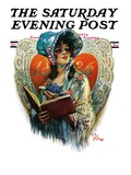 """1826 Valentine,"" Saturday Evening Post Cover, February 13, 1926 Giclee Print by Paul Stahr"