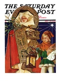 """Medieval Merry Christmas,"" Saturday Evening Post Cover, December 25, 1926 Giclee Print by Joseph Christian Leyendecker"