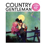 """Full Moon Romance,"" Country Gentleman Cover, October 1, 1934 Giclee Print by Phil Lyford"