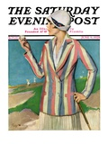 """Woman in Sandtrap,"" Saturday Evening Post Cover, June 9, 1928 Giclee Print by Penrhyn Stanlaws"
