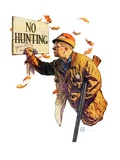 """'No Hunting',""October 28, 1939 Giclee Print by Douglas Crockwell"