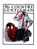 """""""Basket of Kittens in the Barn,"""" Country Gentleman Cover, April 12, 1924 Giclee Print by R. Bolles"""