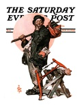 """Who, Me Work,"" Saturday Evening Post Cover, January 23, 1926 Giclee Print by Joseph Christian Leyendecker"