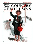 """Hitchhiking Boy,"" Country Gentleman Cover, May 23, 1925 Giclee Print by Angus MacDonall"