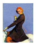 """Woman on Horseback,""September 17, 1932 Giclee Print by Guy Hoff"