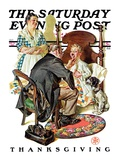 """Sore Throat,"" Saturday Evening Post Cover, November 22, 1930 Giclee Print by Joseph Christian Leyendecker"