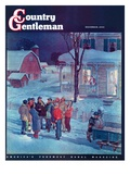 """Christmas Carollers,"" Country Gentleman Cover, December 1, 1945 Giclee Print by Henry Soulen"