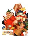 """'Night before Christmas',""December 26, 1936 Giclee Print by Joseph Christian Leyendecker"