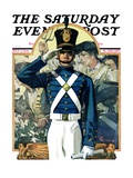 """Military School Graduate,"" Saturday Evening Post Cover, July 3, 1926 Giclee Print by Elbert Mcgran Jackson"