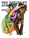 """The Flamenco,"" Saturday Evening Post Cover, February 1, 1930 Giclee Print by McClelland Barclay"