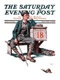 """Eighteenth Hole,"" Saturday Evening Post Cover, August 8, 1925 Giclee Print by Lawrence Toney"