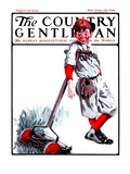 """Cut Grass or Play Baseball,"" Country Gentleman Cover, August 30, 1924 Giclee Print by Angus MacDonall"