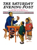 """Chinese Painting China,"" Saturday Evening Post Cover, January 14, 1928 Giclee Print by Henry Soulen"