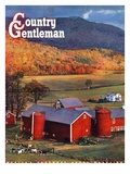 """Red Barns and Silos,"" Country Gentleman Cover, October 1, 1949 Giclee Print by W.C. Griffith"