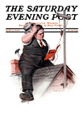 &quot;Radio Antennae,&quot; Saturday Evening Post Cover, May 2, 1925 Giclee Print by Robert C. Kauffmann