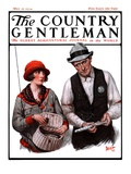"""""""Game Warden Measures Woman's Fish,"""" Country Gentleman Cover, May 10, 1924 Giclee Print by Harold Brett"""