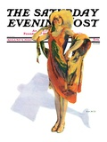 """Beach Costume,"" Saturday Evening Post Cover, August 9, 1930 Giclee Print by Guy Hoff"