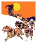 """Eskimo and Dog Sled,""February 29, 1936 Giclee Print by Maurice Bower"