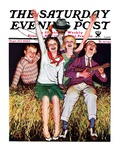 &quot;Hayride,&quot; Saturday Evening Post Cover, September 30, 1933 Reproduction proc&#233;d&#233; gicl&#233;e par Alan Foster