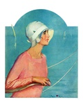 """Woman at the Rudder,""August 17, 1929 Giclee Print by Penrhyn Stanlaws"