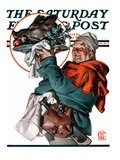 """Christmas Boar,"" Saturday Evening Post Cover, December 20, 1924 Giclee Print by Joseph Christian Leyendecker"