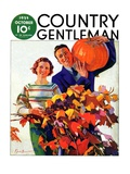 """Couple in Fall,"" Country Gentleman Cover, October 1, 1935 Giclee Print by F. Sands Brunner"