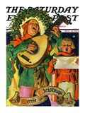 &quot;Christmas Minstrels,&quot; Saturday Evening Post Cover, December 21, 1929 Giclee Print by J.C. Leyendecker