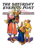 """Arab Vendor and Children,"" Saturday Evening Post Cover, September 21, 1929 Giclee Print by Henry Soulen"