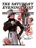 &quot;Easter Finery,&quot; Saturday Evening Post Cover, April 11, 1925 Giclee Print by J.C. Leyendecker