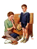 """Growing Boy,""September 16, 1939 Giclee Print by Frances Tipton Hunter"
