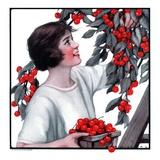 """Picking Pints of Cherries,""May 19, 1923 Giclee Print by Katherine R. Wireman"