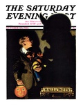 """Halloween, 1926,"" Saturday Evening Post Cover, October 30, 1926 Reproduction procédé giclée par Edgar Franklin Wittmack"