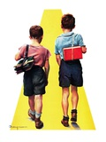 """Back to School,""September 11, 1937 Giclee Print by Robert C. Kauffmann"