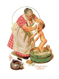 """Saturday Night Bath,""September 24, 1932 Giclee Print by Joseph Christian Leyendecker"