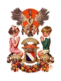 """Thanksgiving Crest,""November 26, 1932 Giclee Print by Joseph Christian Leyendecker"