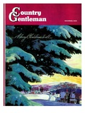 """Nebraska Christmas Scene,"" Country Gentleman Cover, December 1, 1946 Giclee Print by Francis Chase"