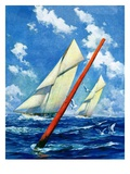 """Sailboat Race,""July 1, 1928 Giclee Print by Anton Otto Fischer"