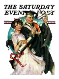"""Graduating Couple,"" Saturday Evening Post Cover, June 11, 1927 Giclee Print by Ellen Pyle"