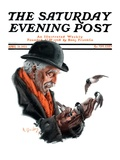 &quot;Man Feeding Birds,&quot; Saturday Evening Post Cover, April 21, 1923 Giclee Print by R. Bolles